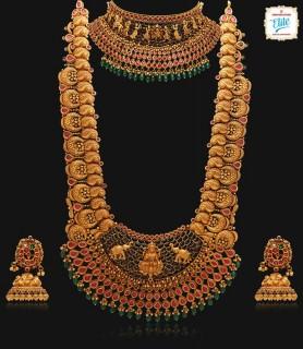Bridal Ruby Ethnic Gold...