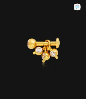 Sizzling Drop Gold Nose Pin...