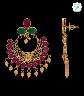 Ravishing Ruby Chand Bali -...