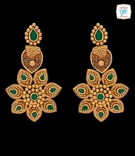 Star Spike Gold Earrings -...