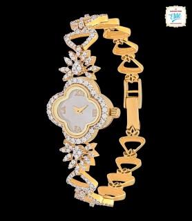 Floral Fern Gold Watch - 2615
