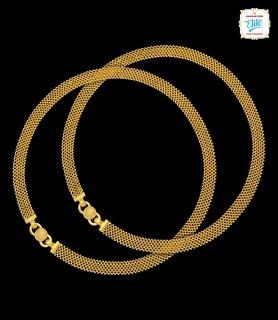 Sequin Mesh Gold Anklet - 3023