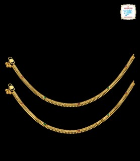 Tinted Bossom Gold Anklet -...