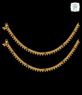 Tribal Tint Gold Anklet - 3029