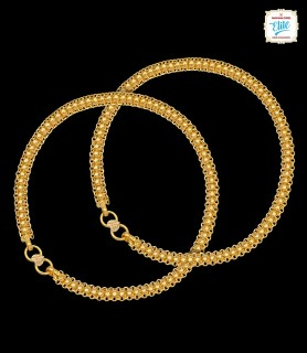 Thick Interlock Gold Anklet...