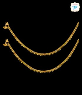 Gold Flair Anklet - 3053