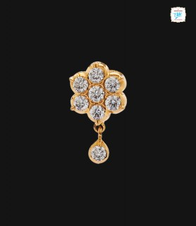 Flower Zircon Drop - 0233