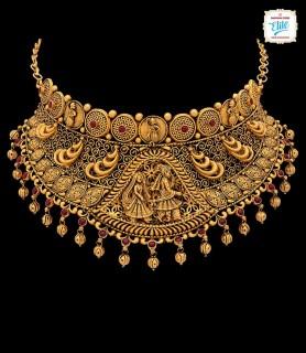 Majestic Bridal Gold Choker...