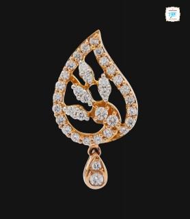 Leaflet Swirl Diamond Drop...