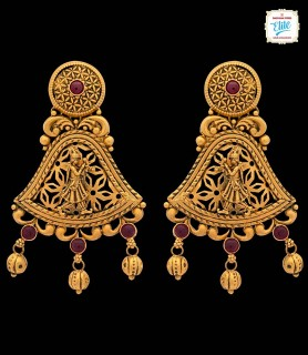 Ethnic Chimes Gold Earrings...