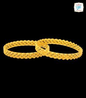 Shell Swirl Gold Bangles -...