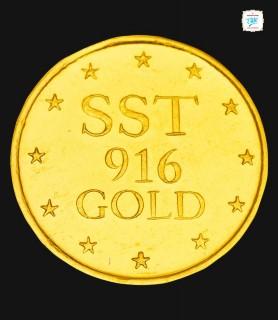 8 GRM Gold Laxmi 916 Coin