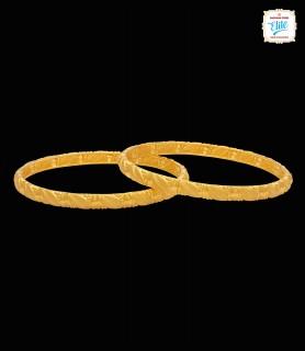 Striking Gold Bangles - 4307