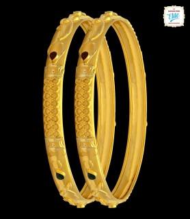 Entralling Gold Bangles - 4371