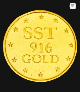 4 GRM Gold Laxmi 916 Coin