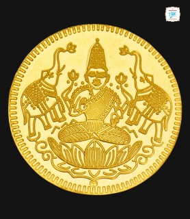 4 GRM Gold Laxmi 916 Coin