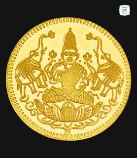 2 GRM Gold Laxmi 916 Coin