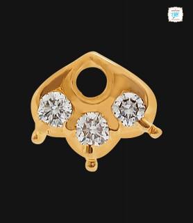 Trillium Diamond Nose Pin -...