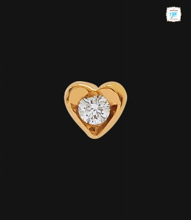 Heart Diamond Nose Pin - 0437
