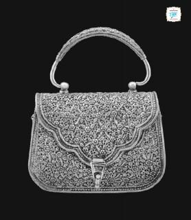 Silver Antique Bag - 0282