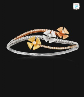 Triple Floral Diamond Kada...