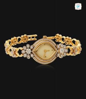 Daisy Studded Diamond Watch...