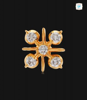 Cross Spear Diamond Stud -...