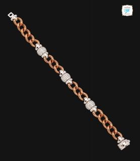 Oval Curb Chain Diamond...