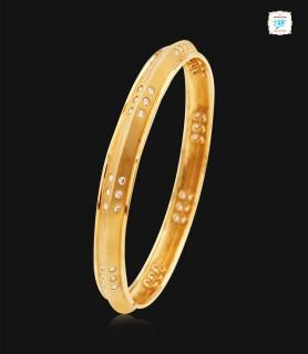Glossy Motif Diamond Kada -...