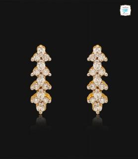 Sway Cluster Diamond Hoop -...